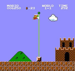 how-to-jump-flagpole-in-super-mario-bros-screenshot