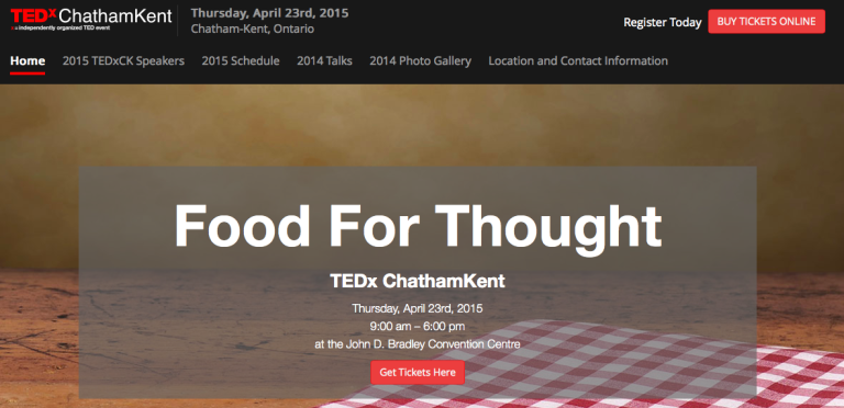 Food For Thought - Highlights From #TEDxCK
