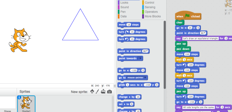 Coding & Drawing an Equilateral Triangle #CSforALL #CodeBreaker