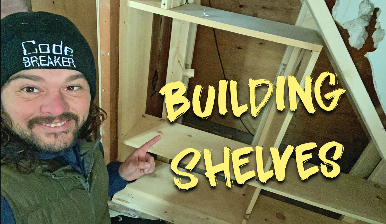 Maximizing Tiny House Space - Building Shelves Under The Stairs at Lakeview