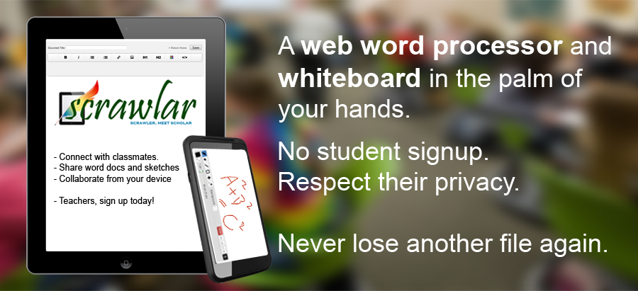@scrawlar has been overhauled! A new web whiteboard & word processor all in one.