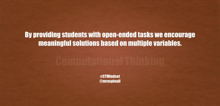 Computational Thinking #CTMindset