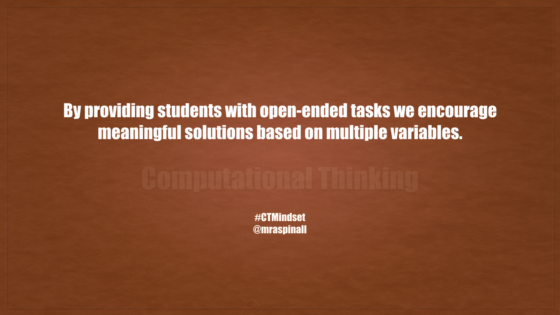 Computational Thinking #CTMindset
