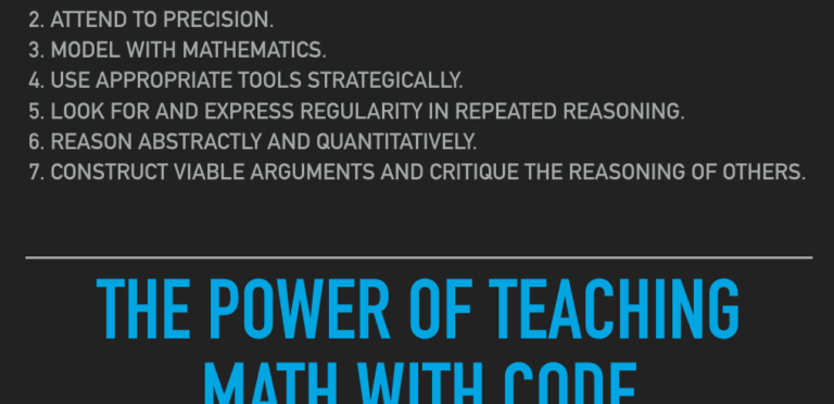 The Power of Teaching Math With Code #CodeBreaker