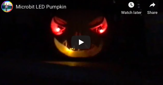 A Micro:Bit LED Pumpkin via @GPearceWSD