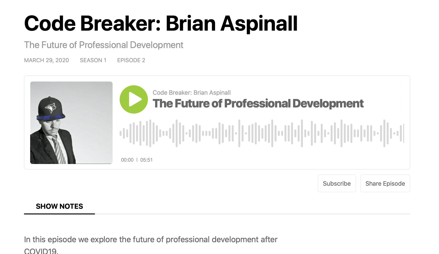 The Future of Professional Development: Podcast