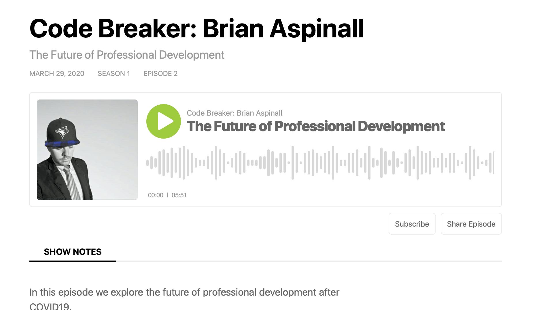 The Future of Professional Development: Podcast