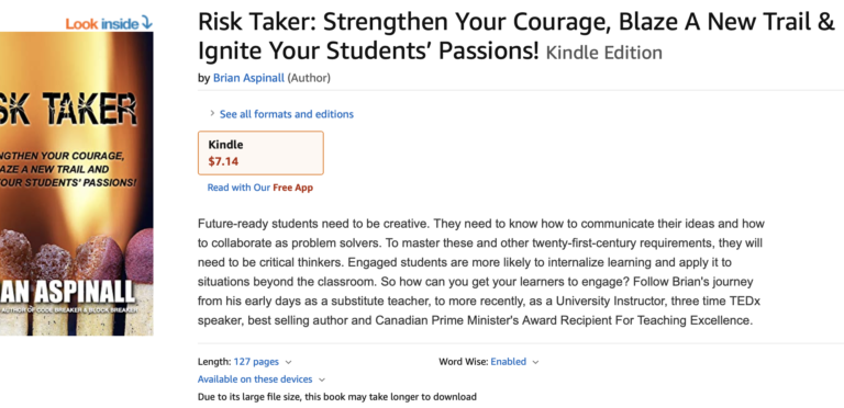 Risk Taker is only $7 on Kindle!